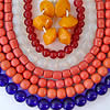 strands of vintage Peking glass beads, purchased by Robin Atkins, bead artist, while in China