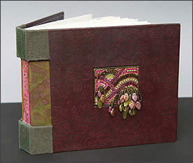 Handmade Book/Journal by Robin Atkins, Bead Artist