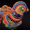 Rosie, the Uncaged Hen, fine art prints by Robin Atkins, bead artist