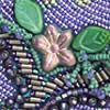 Blessings (detail), cover of a handmade artist's book by Robin Atkins, bead artist