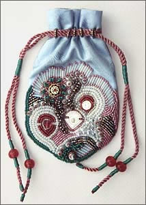 Small Beaded Bag by Robin Atkins, Bead Artist