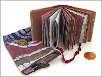Mini Prayer Book with decorative papers by Robin Atkins, bead artist