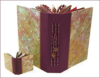 Book of Plenty and Mini Prayer Book with decorative papers by Robin Atkins, bead artist