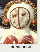 Grieving with Precious Tears, spirit doll by Robin Atkins, bead artist.